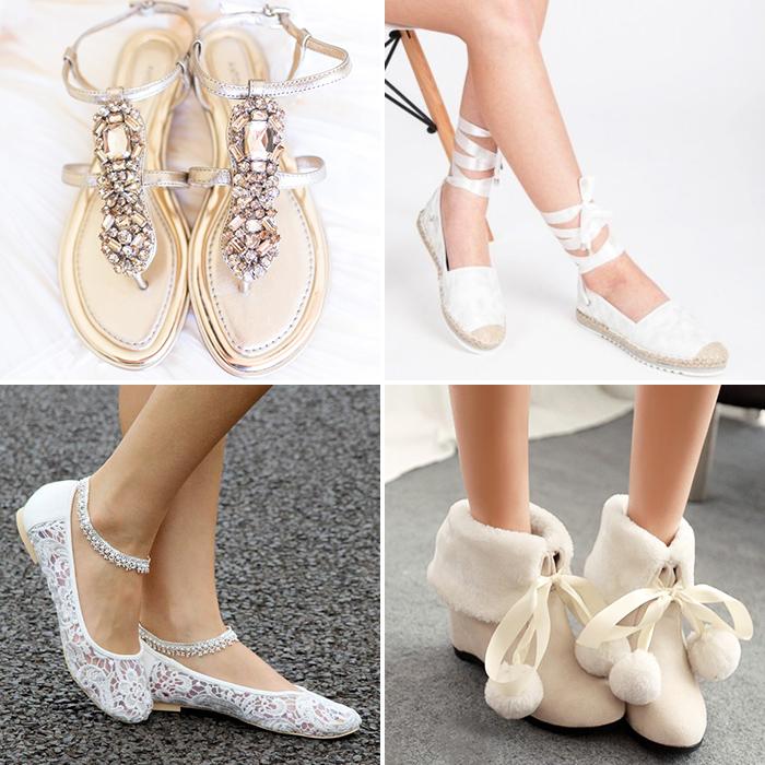 6840e50ee Свадебная обувь без каблука для невесты: как и что выбрать, фото